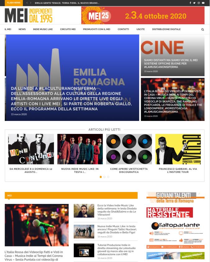 NOMADE DIGITALE di Gianluca Testa in prima pagina sul sito del MEI!