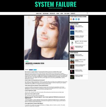 intervista Gianluca Testa system fallure